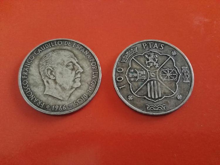 Monedas de franco, de 100 pts.