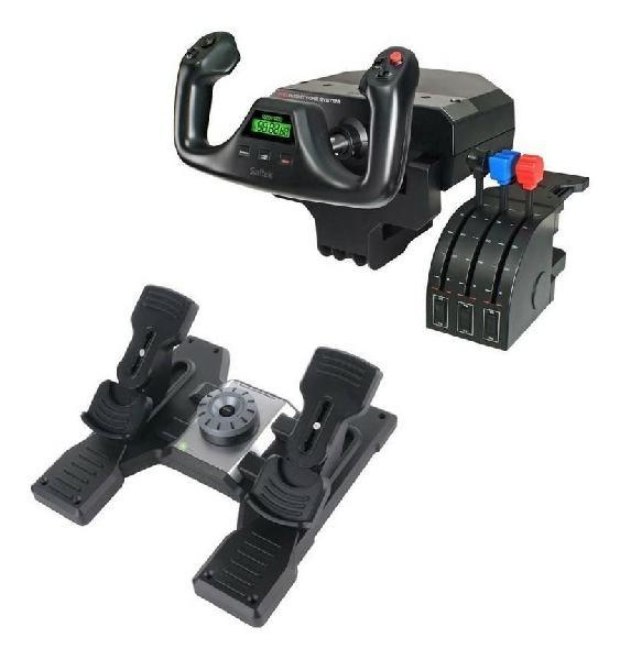 Saitek yoke + controles + ruddel pedals