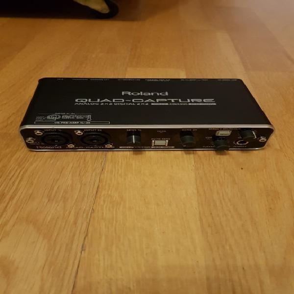 Tarjeta sonido roland audio quad-capture ua-55 usb