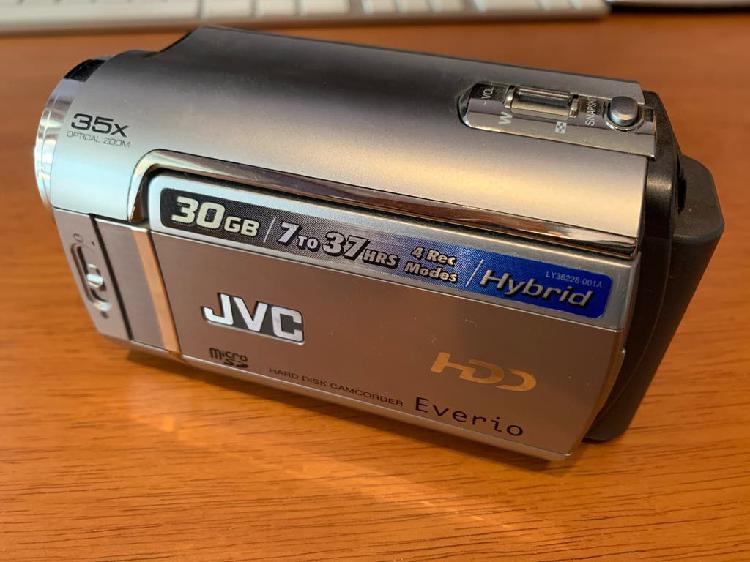 Videocámara hdd jvc con caja y funda