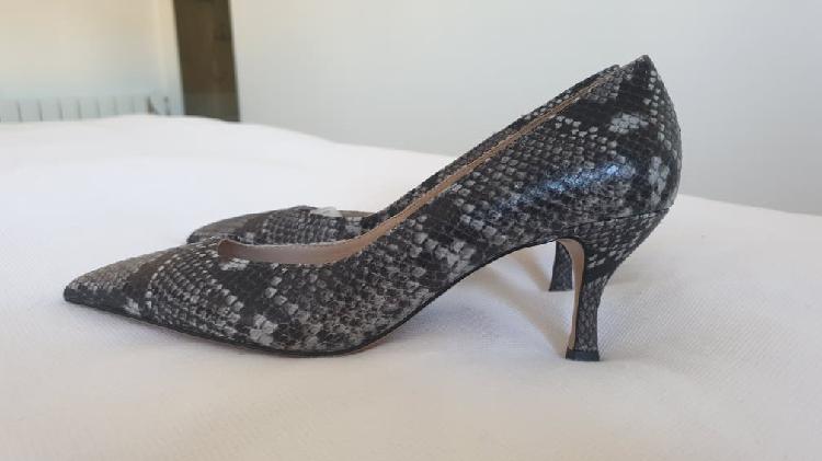 Zapatos piel serpiente massimo dutti