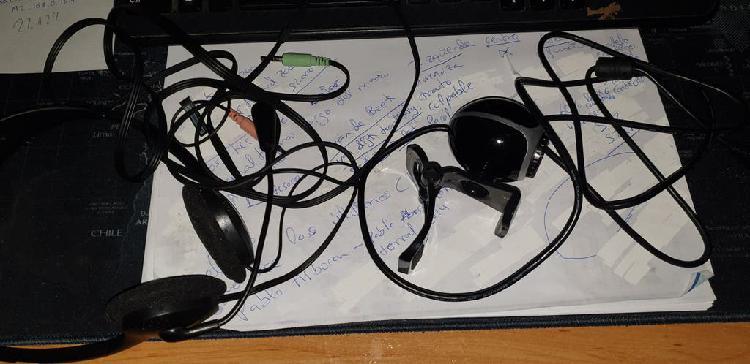 Camara web + cascos para pc
