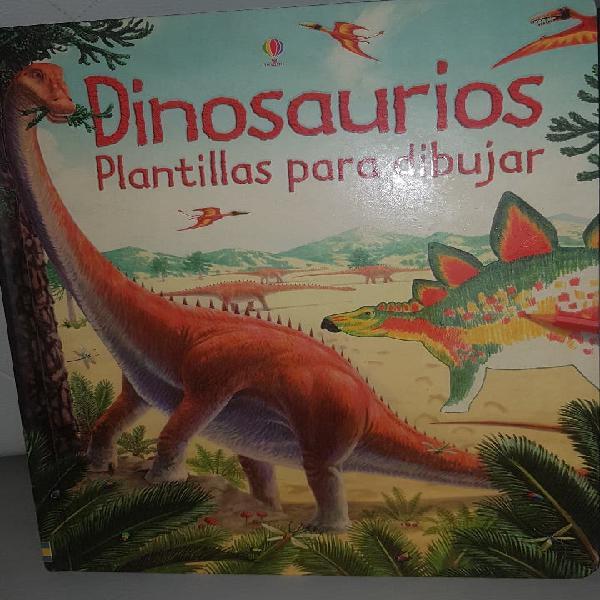 Dinosaurios plantillas para dibujar usborne
