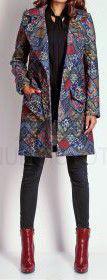 Abrigo de lana y cachemir multicolor talla 40