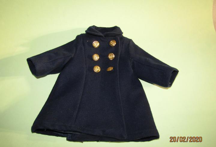 Abrigo de paño con botones marineros de ancla de mariquita