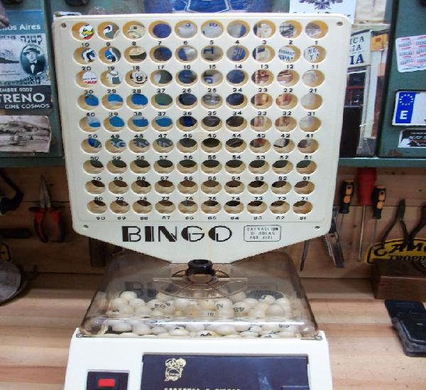 Antigua Maquina de BINGO extraccion de bolas por aire de