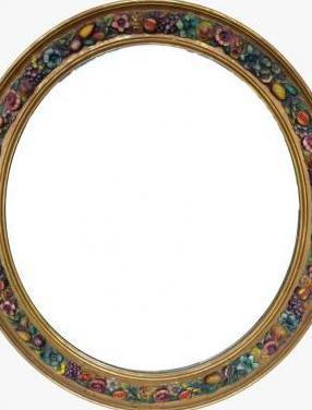 Antiguo espejo madera policromado