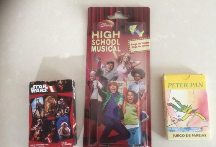 Barajas de cartas: high school musical - peter pan y star