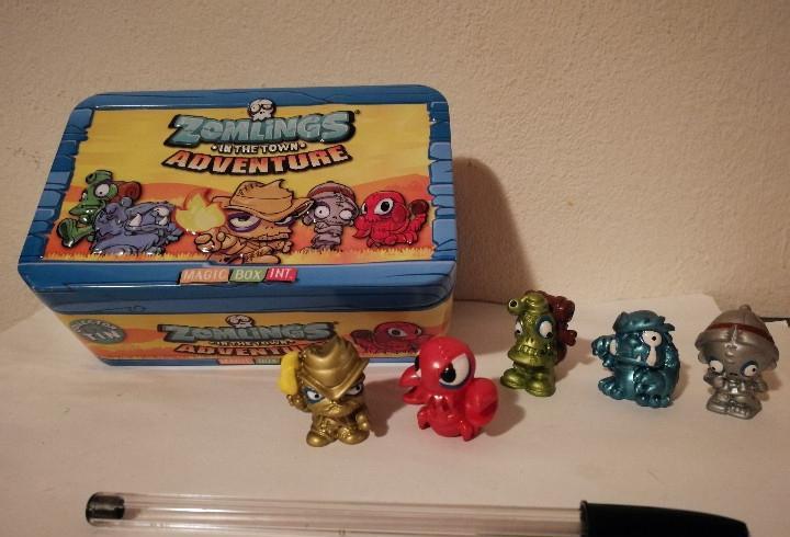 Caja metalica con figuras magic box - zomlings - zomling in