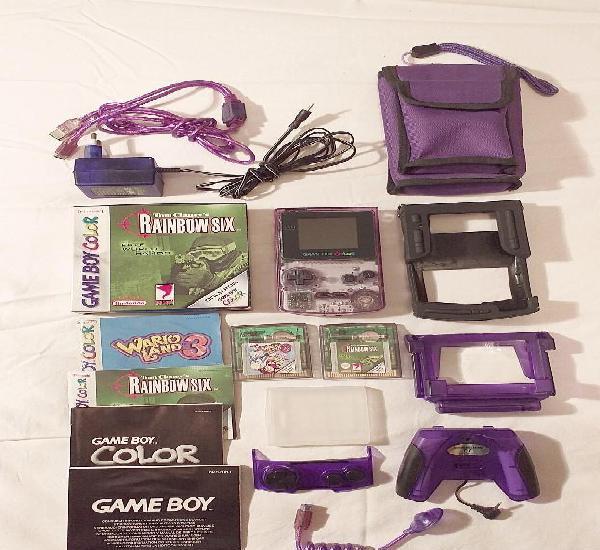 Consola game boy color cgb-001 con juegos y muchos