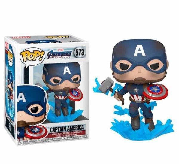 Figura funko pop marvel vengadores endgame capitán américa