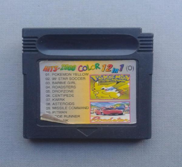 Juego nintendo gameboy 12 juegos en 1 pokemon yellow y mas