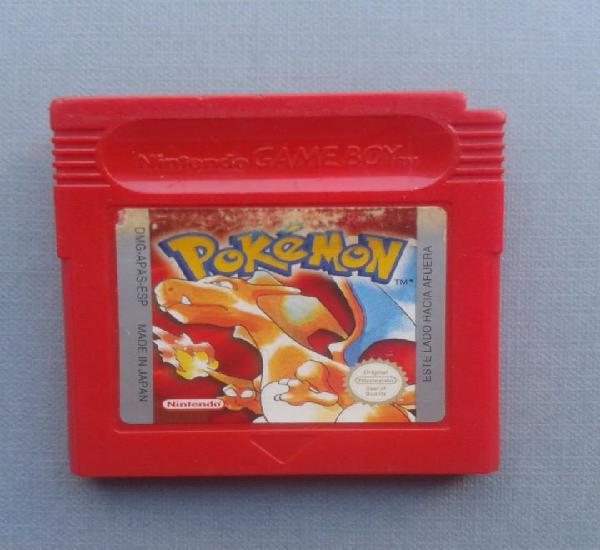 Juego nintendo gameboy pokemon rojo solo cartucho pal