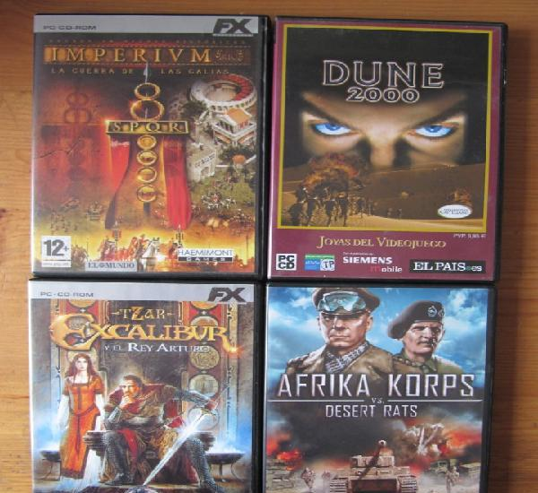 Lote de 4 juegos para pc - imperivm - dune 2000 - afrika