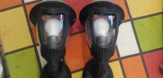 Lámpara aplique de pared en forja