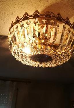 Lámpara techo de cristal