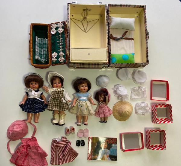 Mariquita perez, reedición lote accesorios ropas, muñecas,