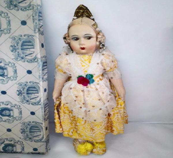 Muñeca fallera nati (madrid), años 30. nunca jugada, con
