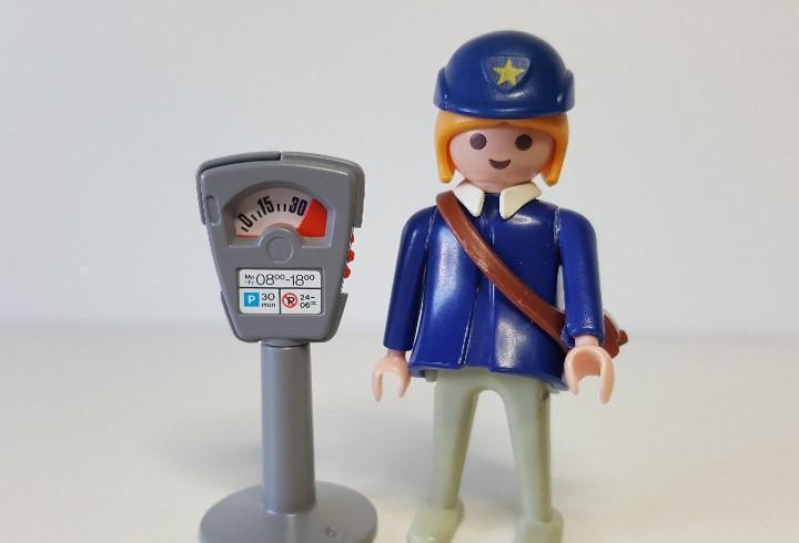 Mujer policia playmobil 3349 parking parkimetro multa