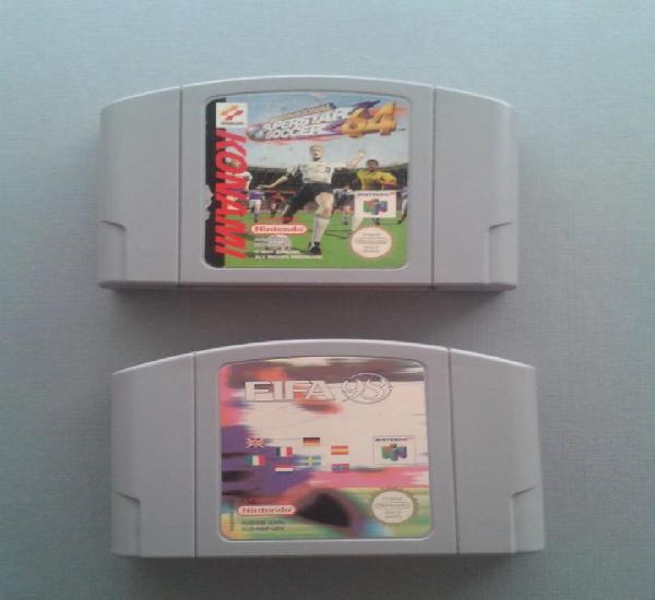 Nintendo 64 international superstar soccer + fifa 98 solo