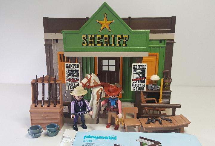 Oficina sheriff playmobil 3786 oeste western antigua prision
