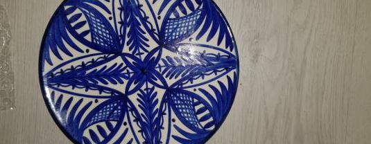 Plato decorativo azul