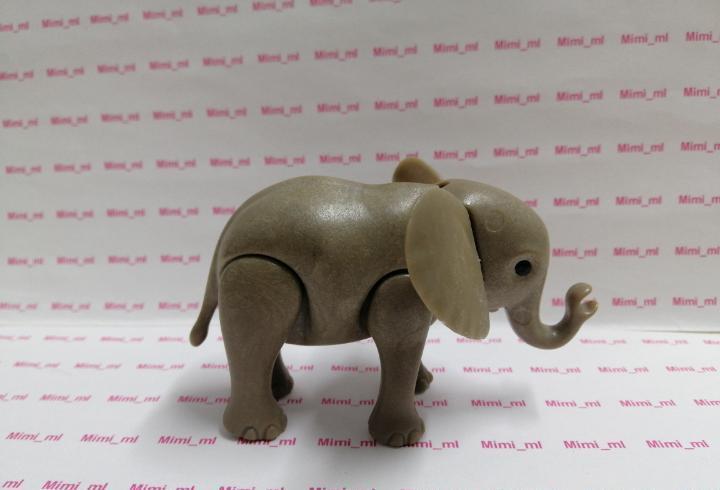 Playmobil elefante cría zoo circo diorama animales safari