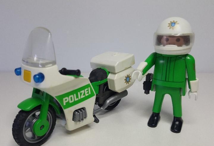 Policia motorista playmobil 3983 moto policial motocicleta