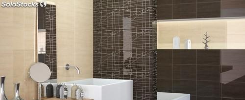Revestimiento de diseño tonos marrones y grises 25x40
