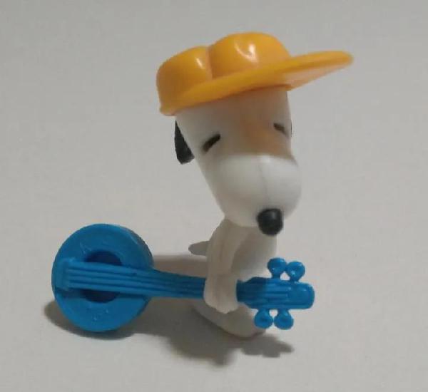 Snoopy banjo peanuts kinder guitarra muñeco mini