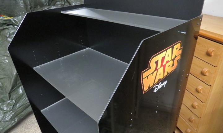 Star wars disney - mueble mostrador estanteria de jugueteria