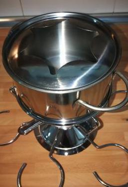 Set fondue acero inoxidable