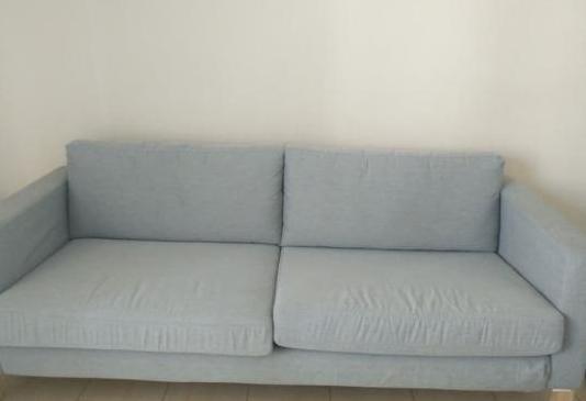 Sofá 3 plazas, knisa gris claro
