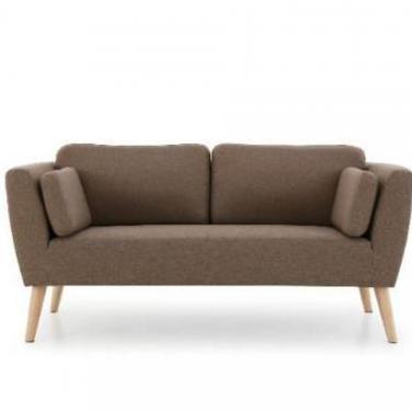 Sofa evy marron 2 plazas diseño nordico