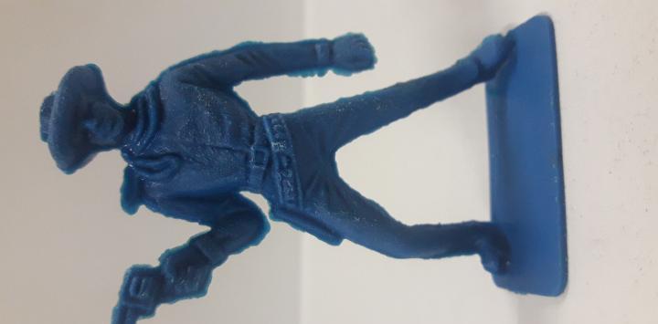 Vaquero - cowboy. años 70. realizado en plastico monocolor