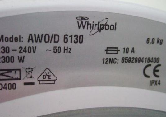 Whirlpool awo/d 6130 repuestos