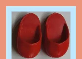 Zapatos zuecos rojos conjunto preu muñeca nancy
