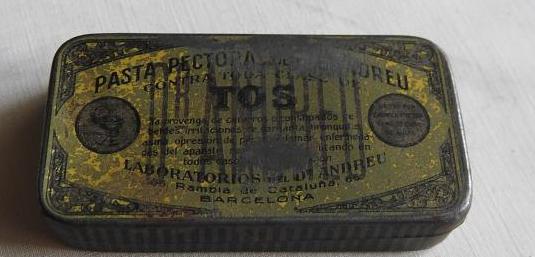 Antigua caja pasta pectoral dr. andreu