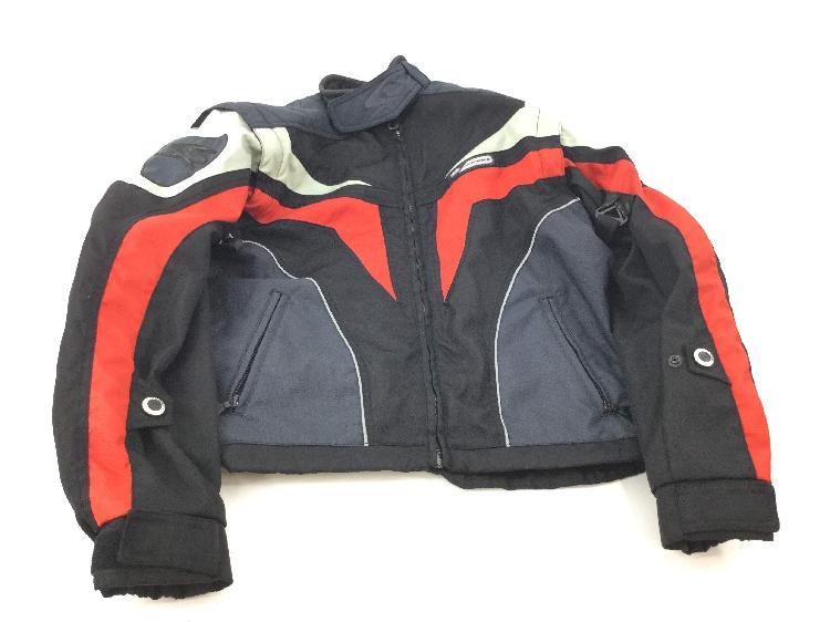 chaqueta motorista otros roja y gris