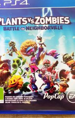 Juego ps4 plants vs zombies