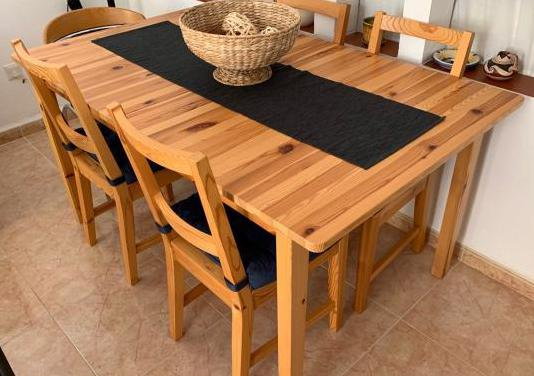 Mesa madera extensible sillas