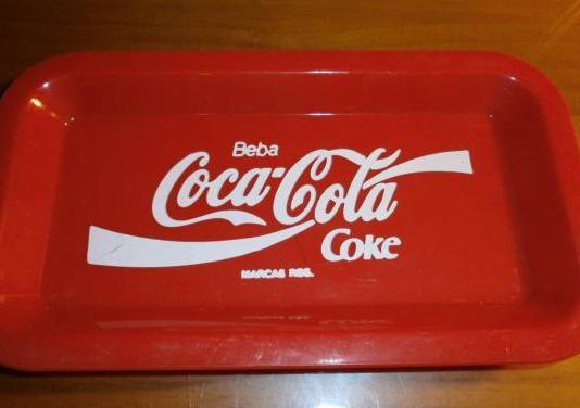 Mini bandeja de plástico coca-cola