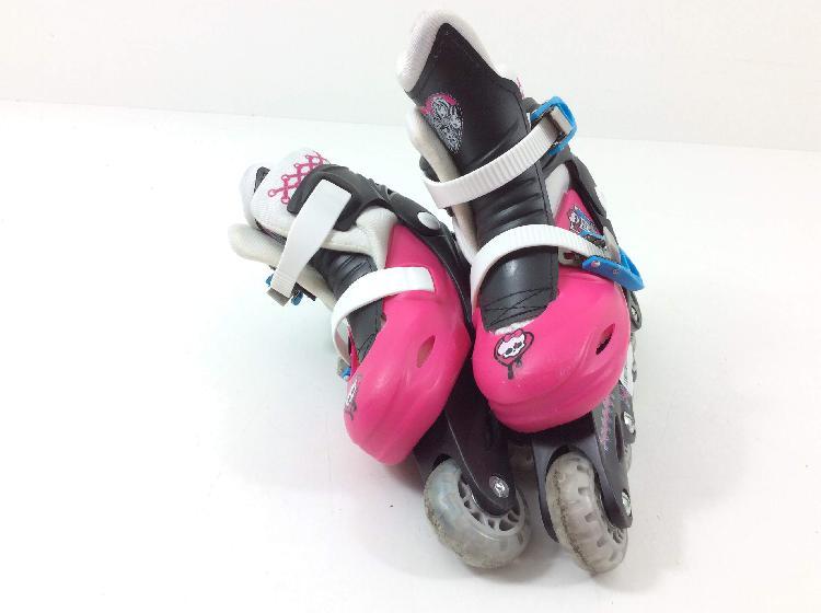 patines otros rosa negro y blanco