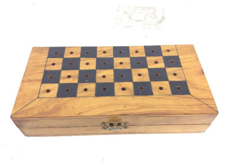 Set tablero fichas ajedrez portatil