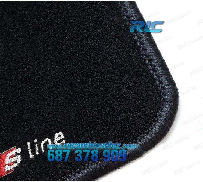 Alfombrillas audi tt 8n logo s-line