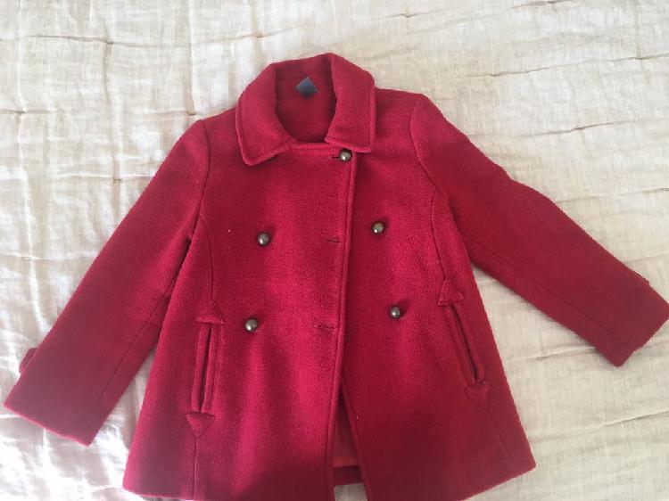 Abrigo niña rojo talla 4-5 años