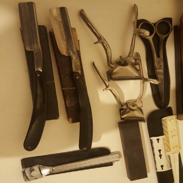 Articulos de peluqueria y barberia antiguos