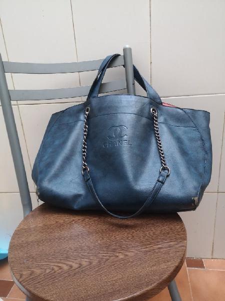 Bolso saco polipiel azul