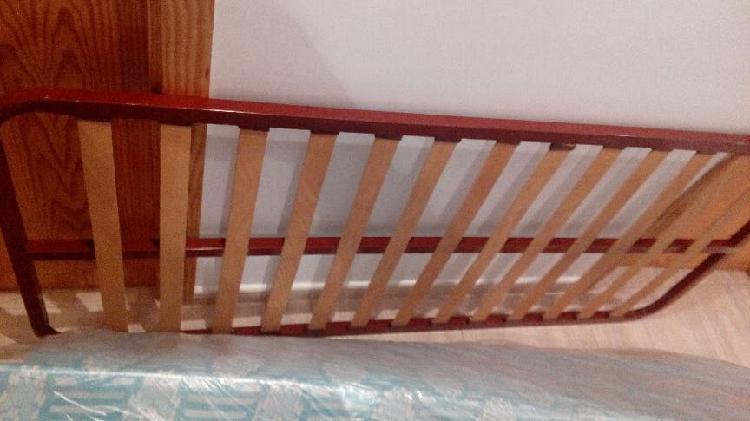 Cama 80 cm. colchón y somier + patas