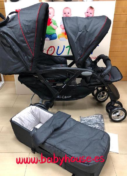 Carro doble chic 4 baby nuevo